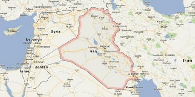 Irak Kartica Kartica Iraka Zapadna Azija Azija